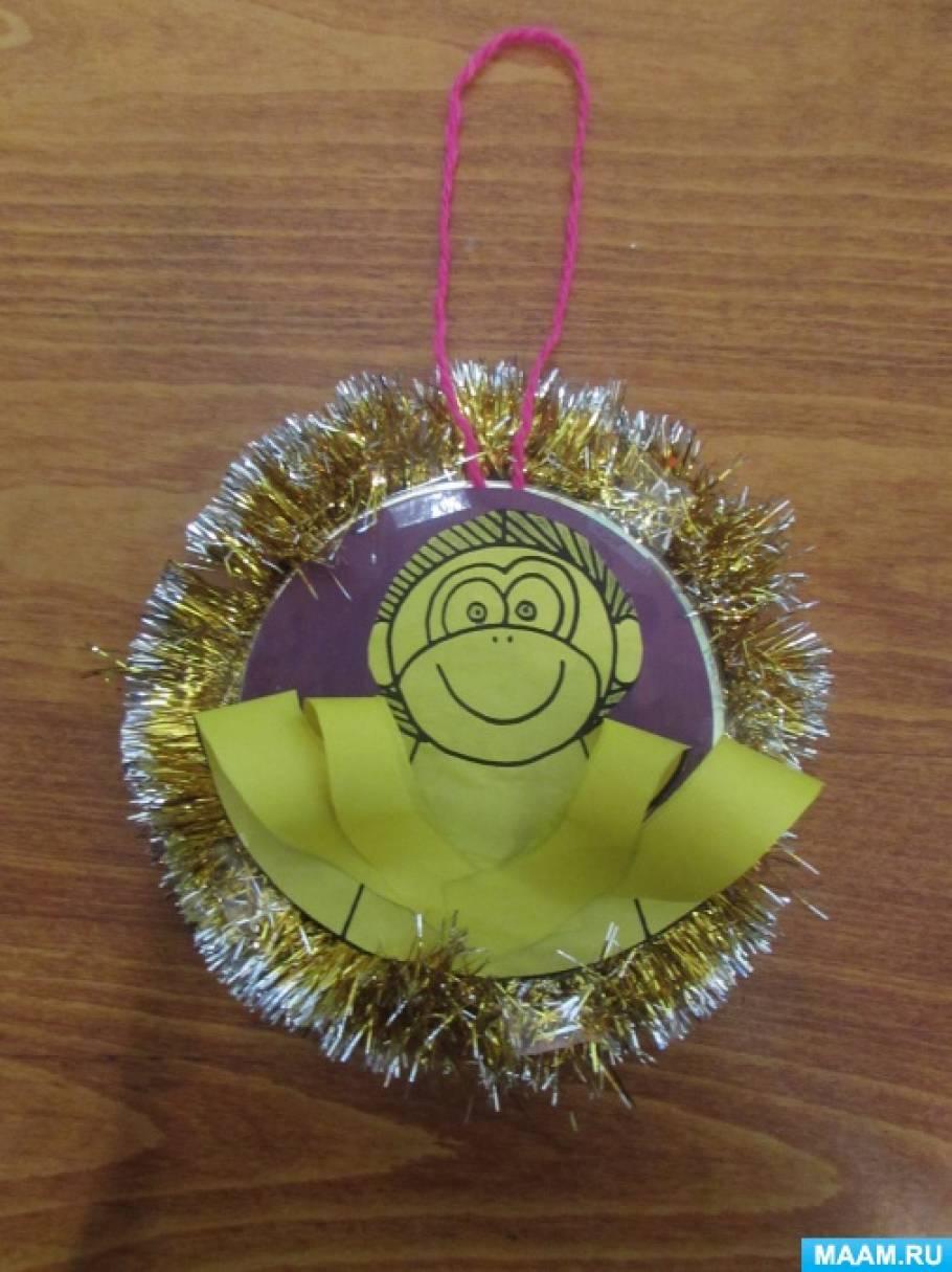 В Новый Год много праздничных хлопот! Мастер-класс изготовления елочной игрушки символа уходящего года «Озорная обезьянка»