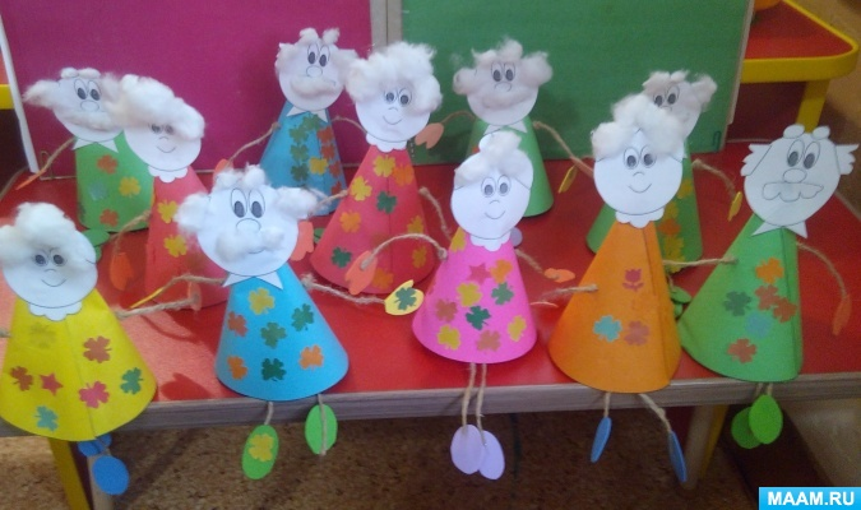 Мастер-класс поделки ко Дню пожилого человека с детьми подготовительной к школе группы