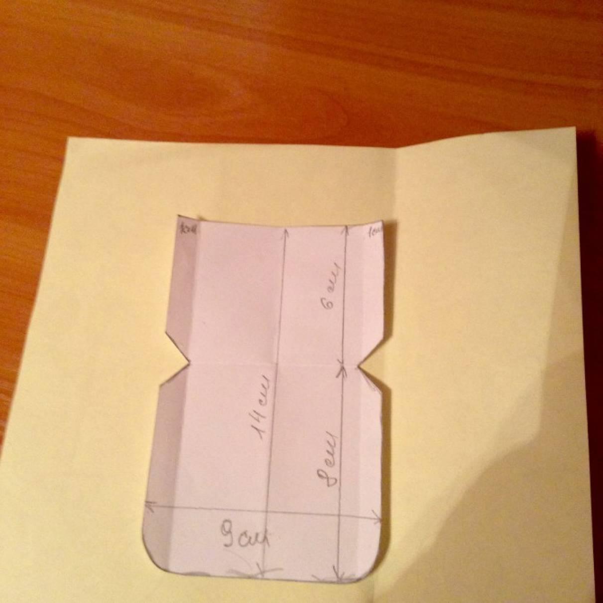 Открытка конверт своими руками с кармашками