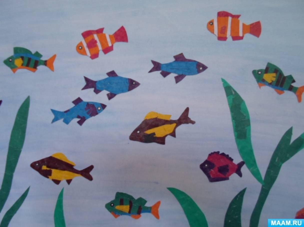картинка рыбка средняя группа вот, наконец