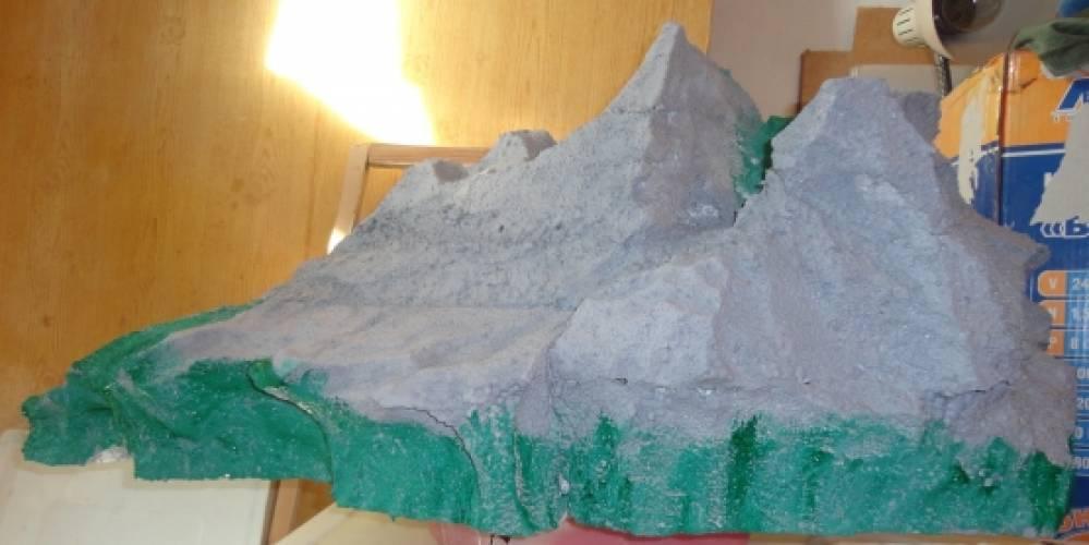 Как сделать горы из бумаги своими руками 13