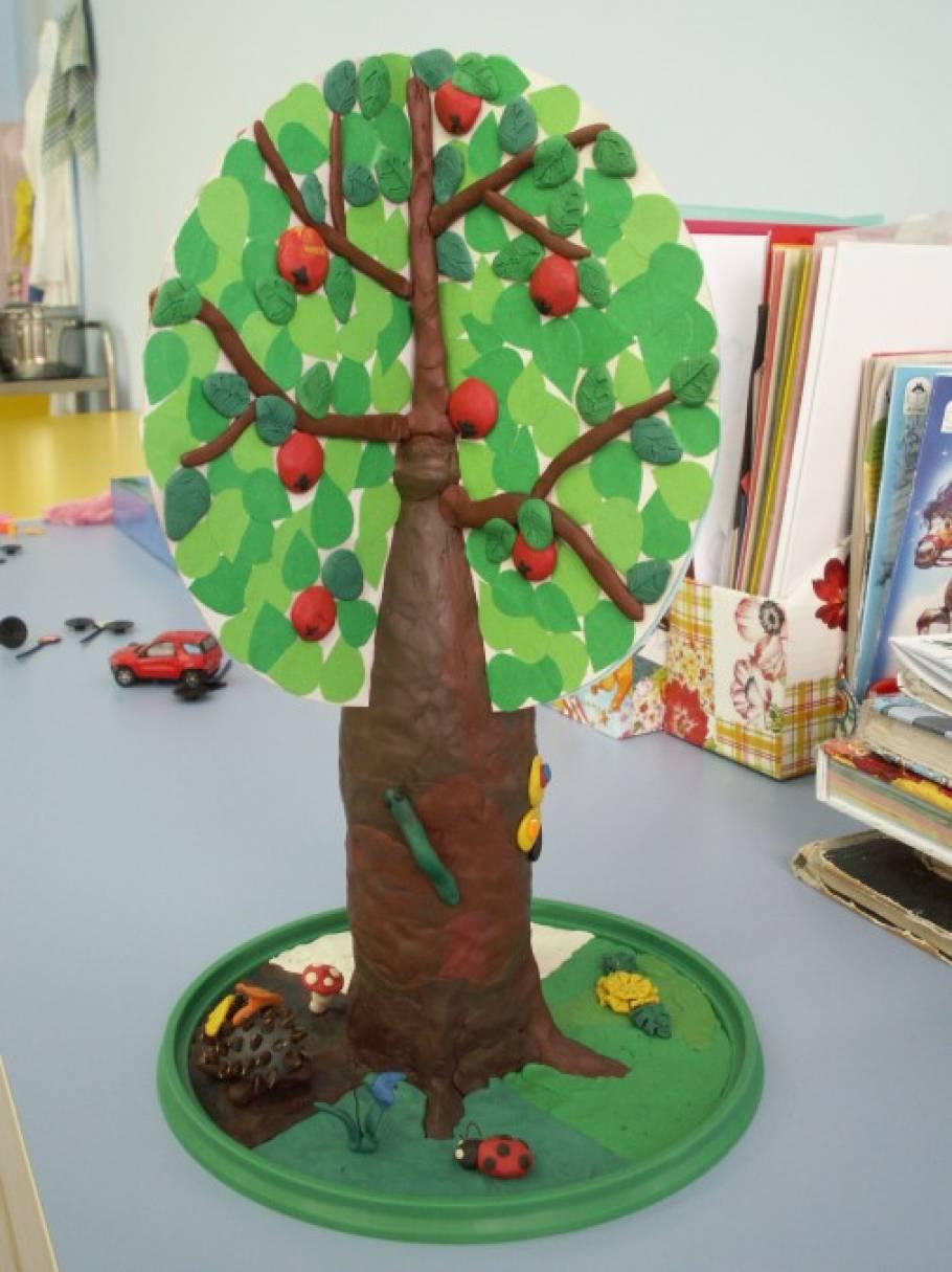 Дерево из картона поделки 31