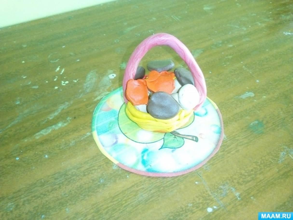 Лепка «Грибное лукошко» (подготовительная группа)