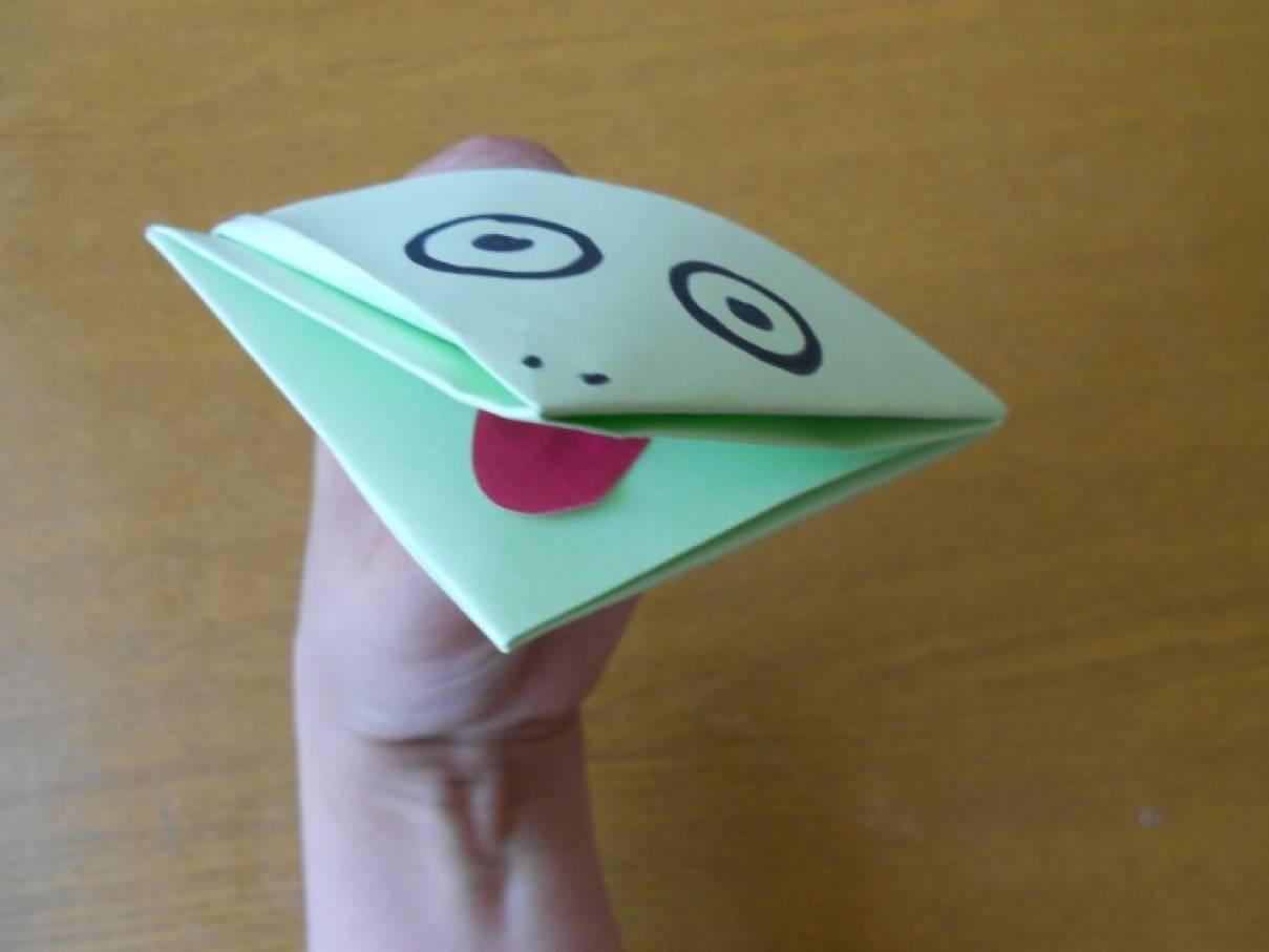 Мастер-класс «Треугольная лягушка». Оригами