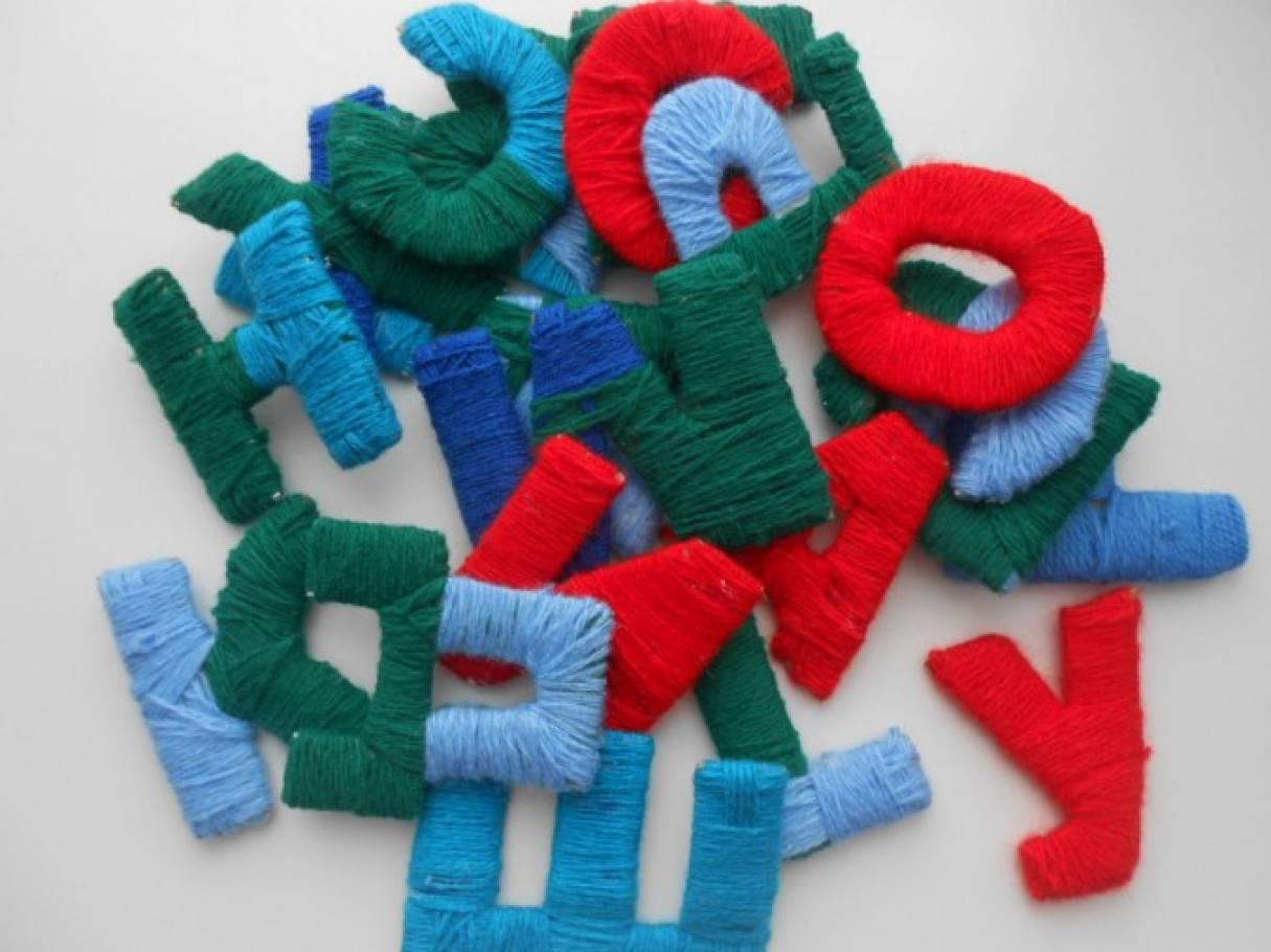 Мягкие буквы своими руками