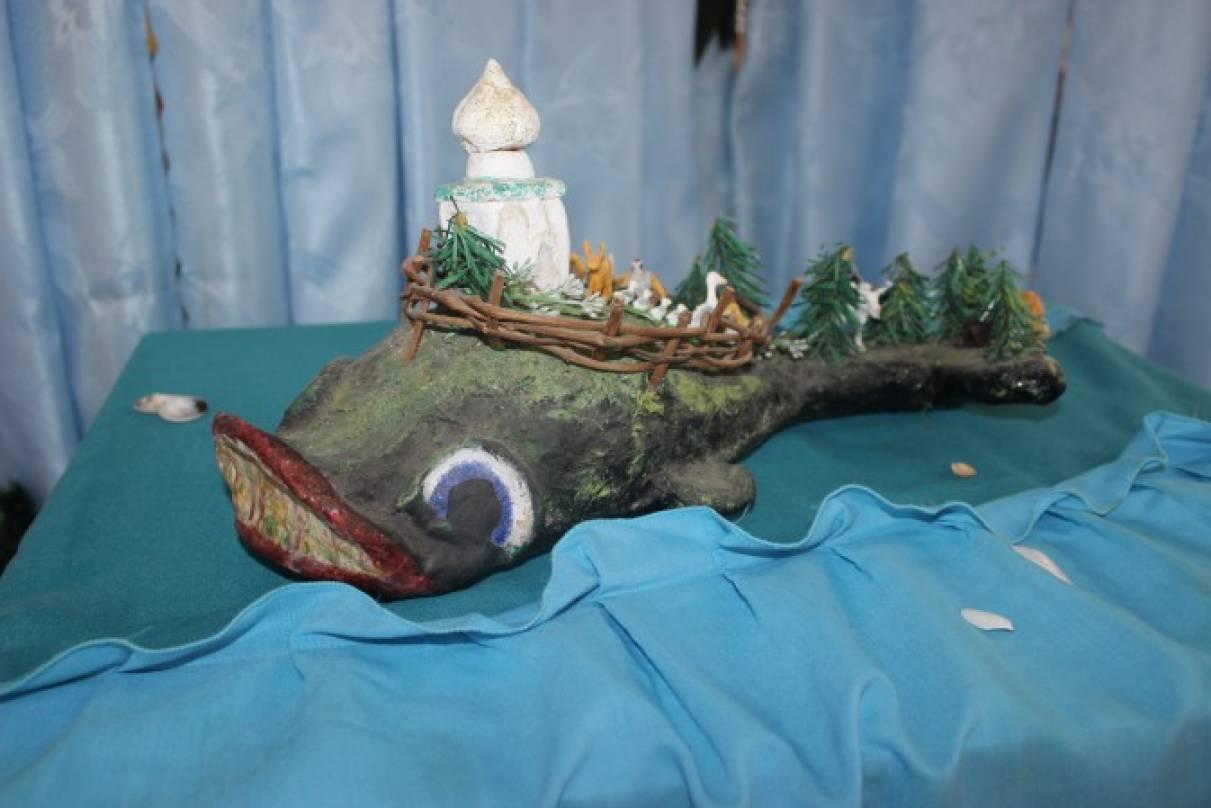 Чудо рыба кит поделка
