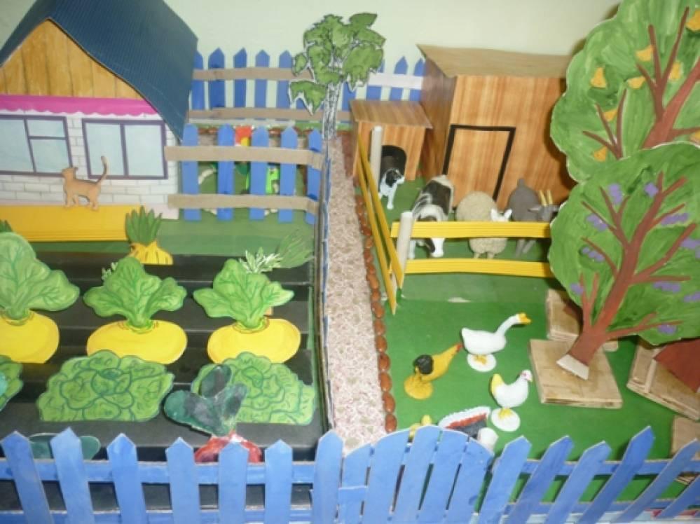 Дидактическая игра-макет «Сельский дворик»