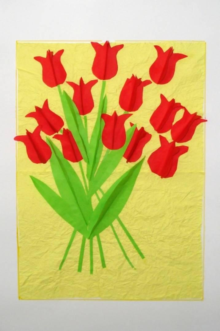 Рисование открытки в подготовительной группе к 8 марта