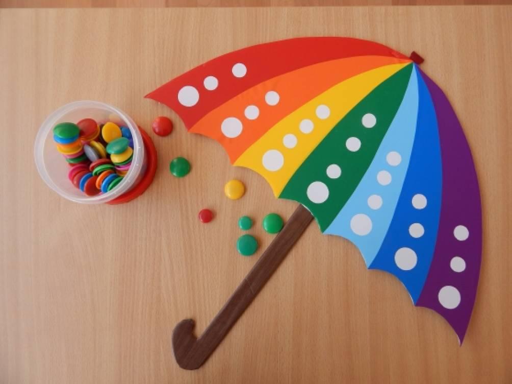 Дидактическая игра по сенсорному развитию «Зонтик»
