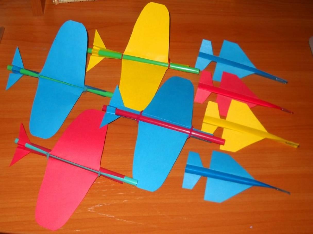 Самолет из цветной бумаги своими руками для детей 84