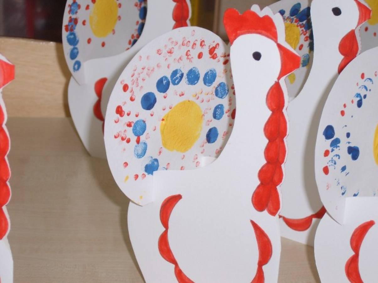 Конспект аппликации птица по мотивам дымковской игрушки подготовительная группа