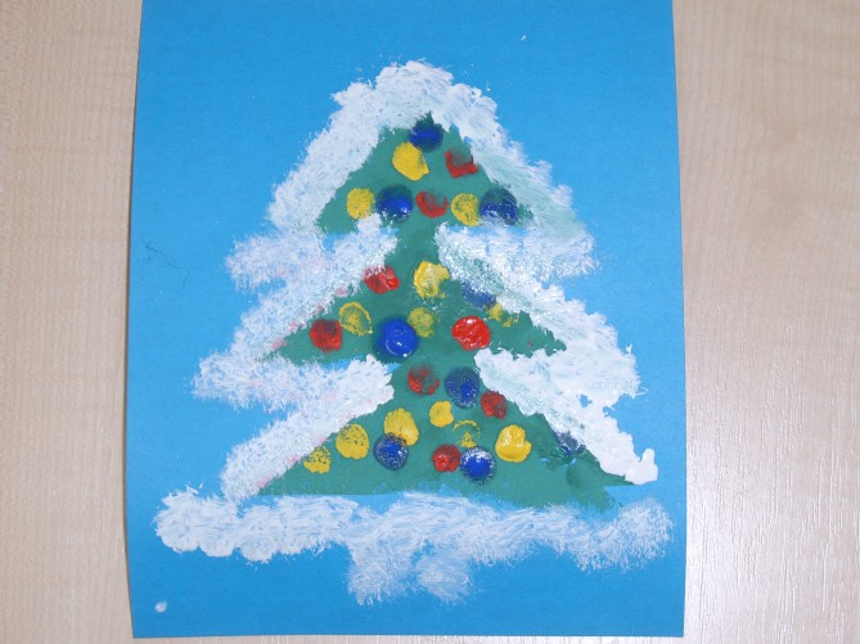 «Новогодняя открытка». Мастер-класс для самых маленьких