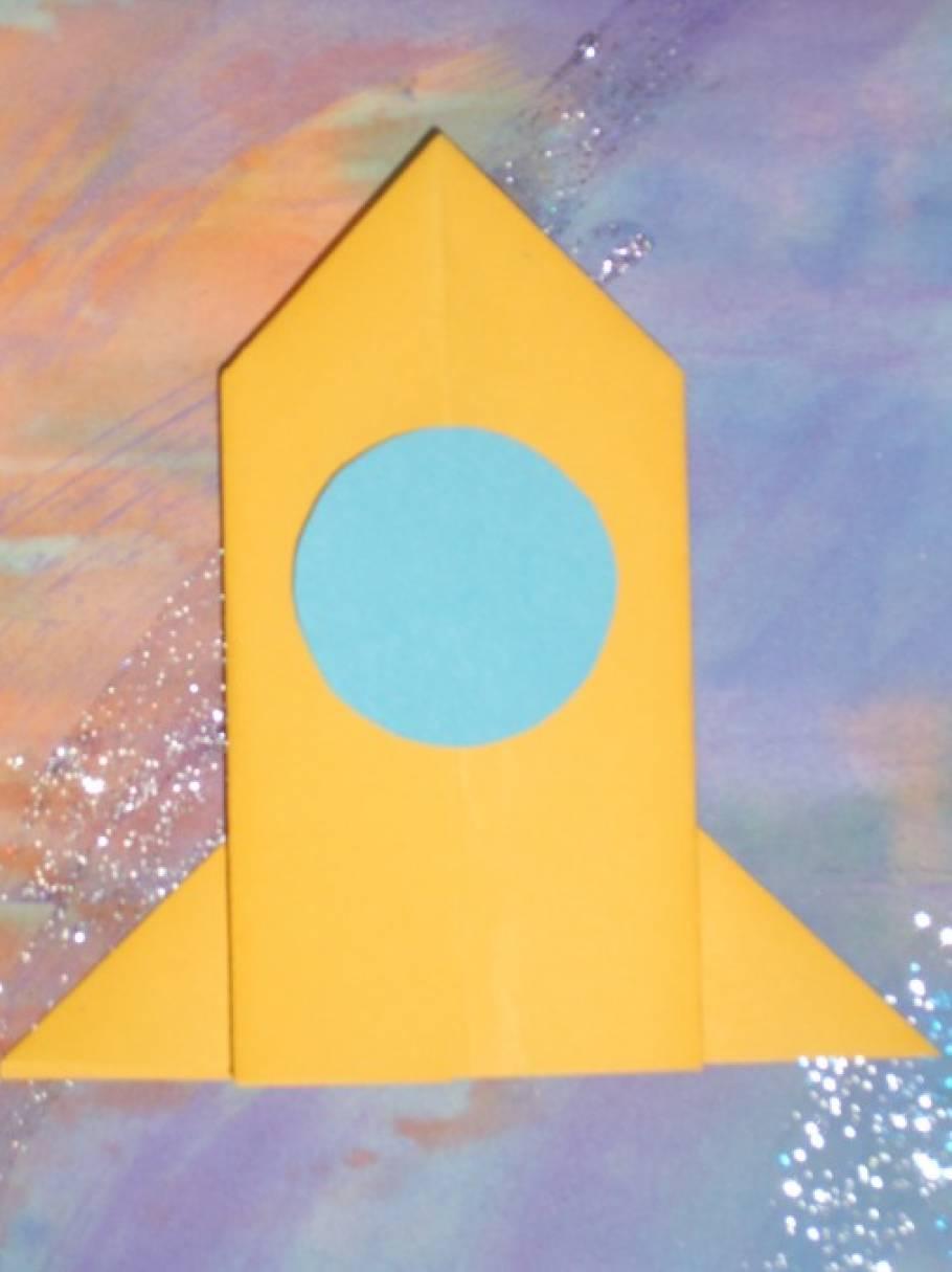 Мастер-класс по оригами «Ракета». Вариант 1