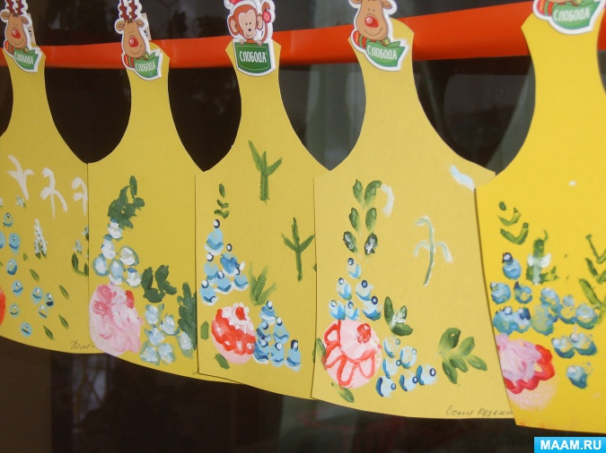 знакомство с городецкой росписью в детском саду