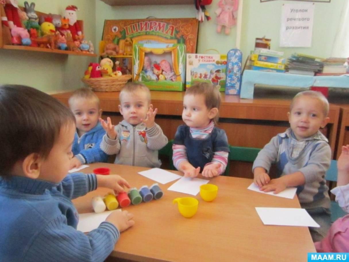 Конспект занятия по рисованию в первой младшей группе «Бублики-бараночки»