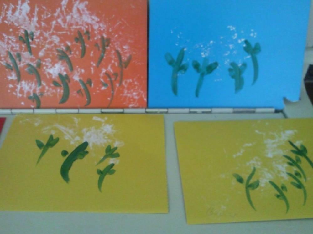 Рисование нетрадиционным способом «Там и тут,  там и тут одуванчики цветут… »