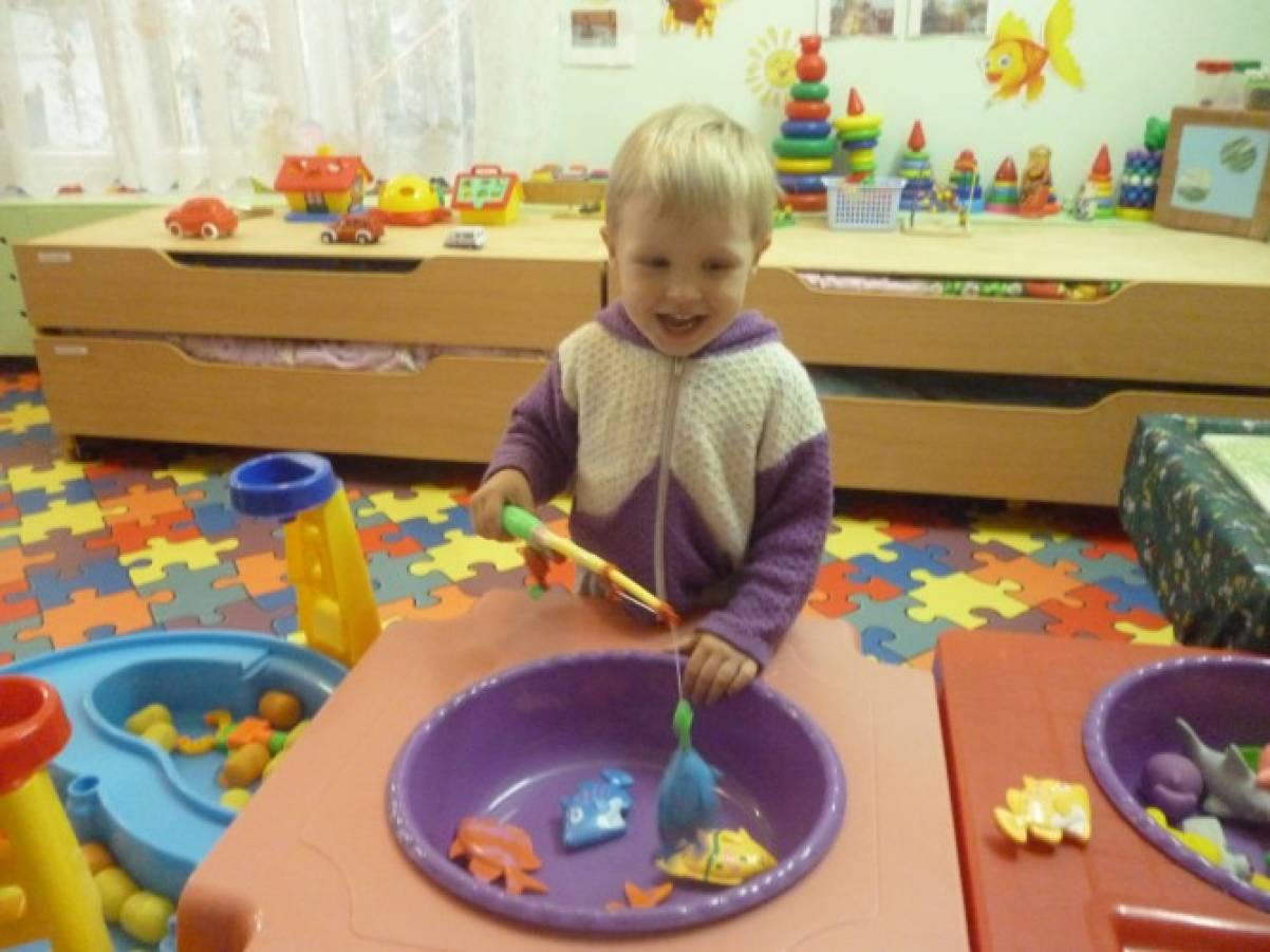 Волшебный бассейн для детей группы раннего возраста