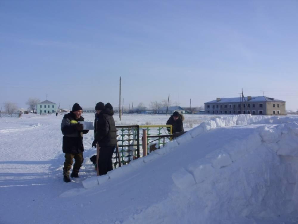 Постройки на участке детского сада  зимой 59