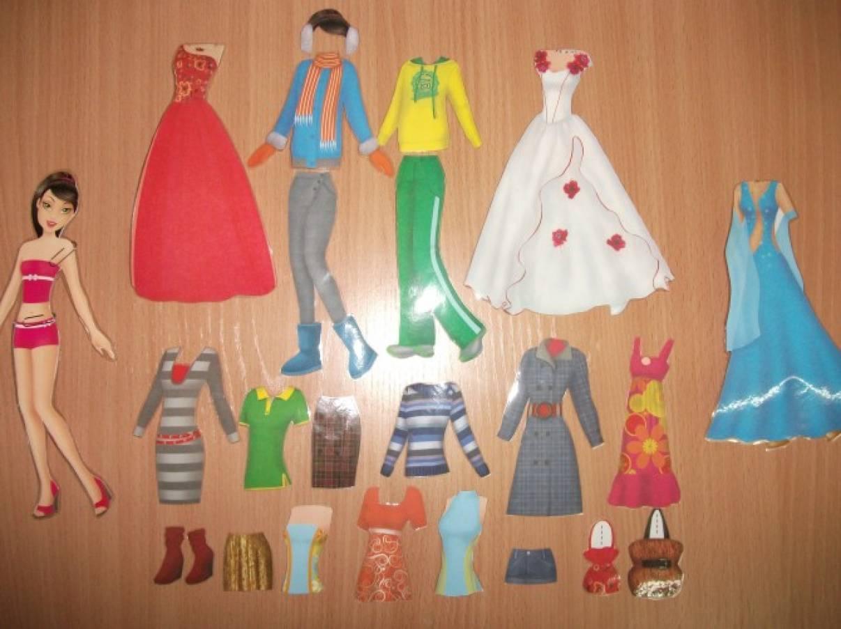 «Оденем куклу». Дидактическая игра по развитию речи своими руками