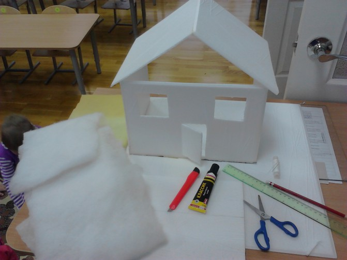 Детский макет дома из бумаги своими руками 75