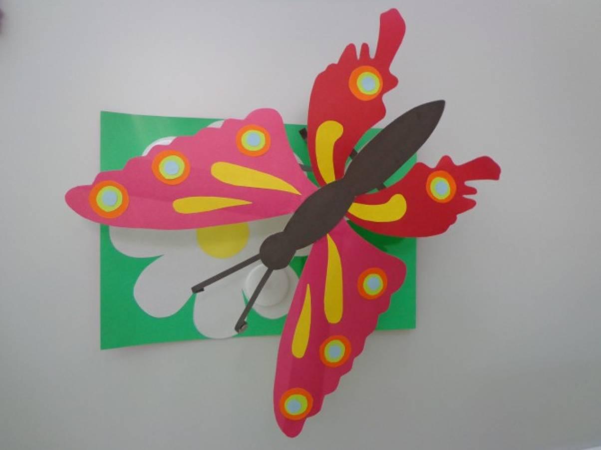 Бабочки с цветной бумаги своими руками 67