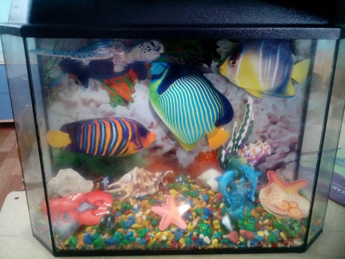 Искусственный аквариум своими руками