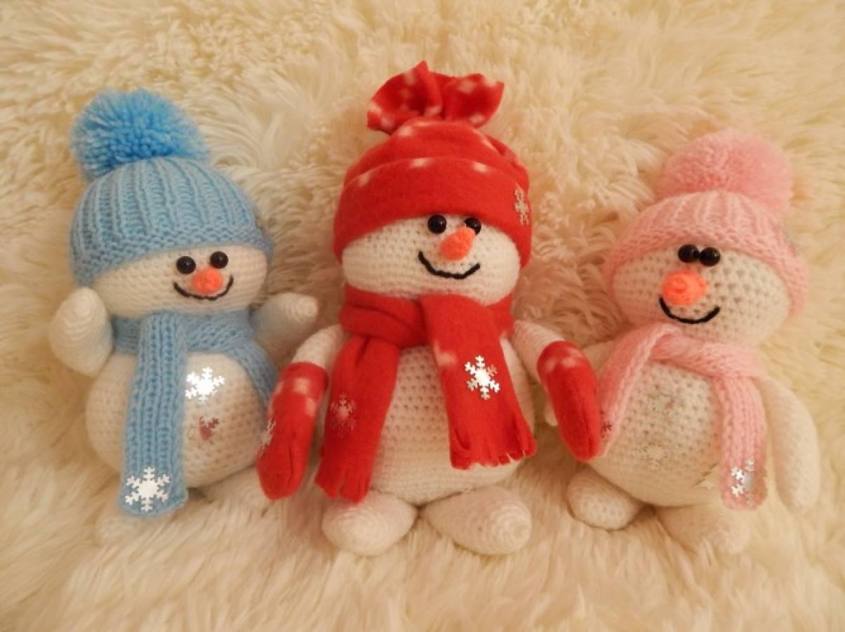 вязаные игрушки мастер класс вяжем мы снеговика воспитателям