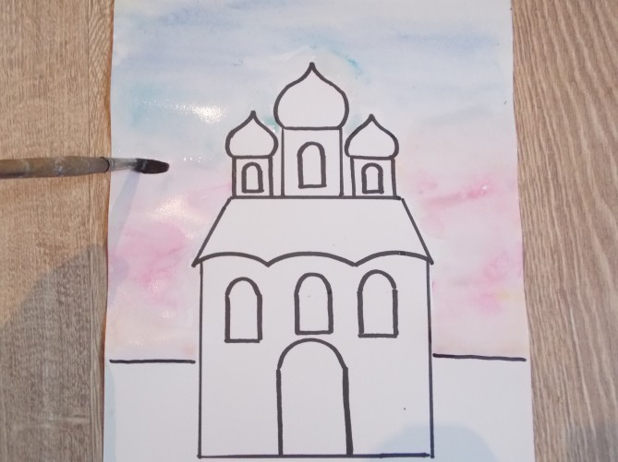 Ребенку нарисовать храм