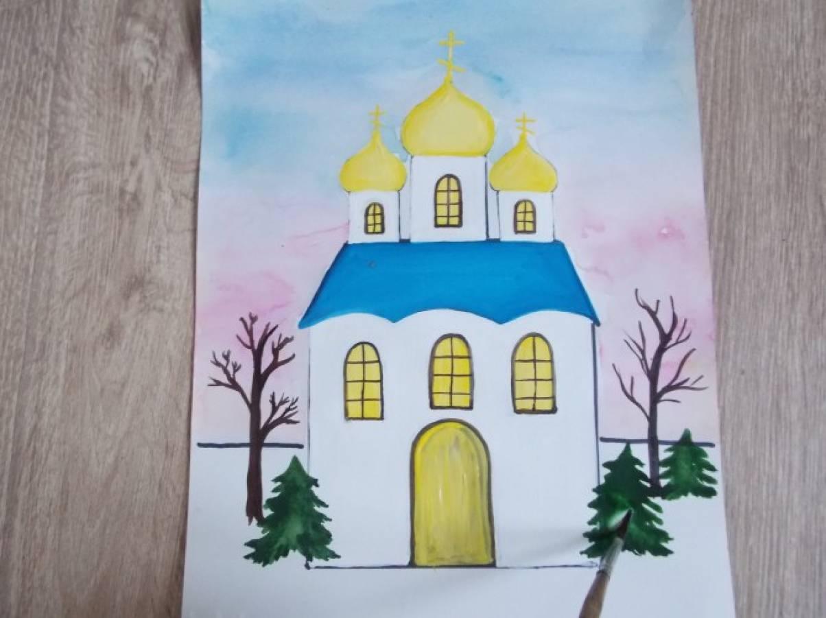 Изо 4 класс древние соборы детские рисунки