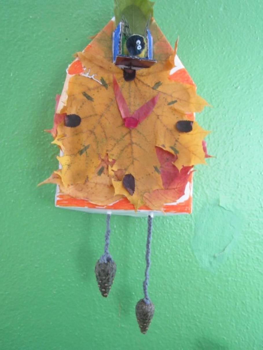 Часы из природного материала своими руками на тему осень 58