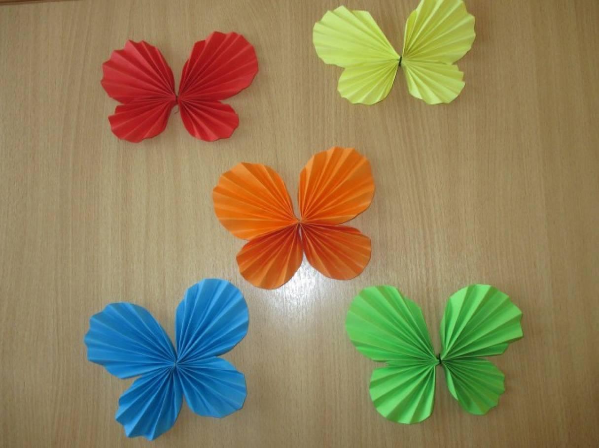 Открытки, бабочка из бумаги гармошкой открытка