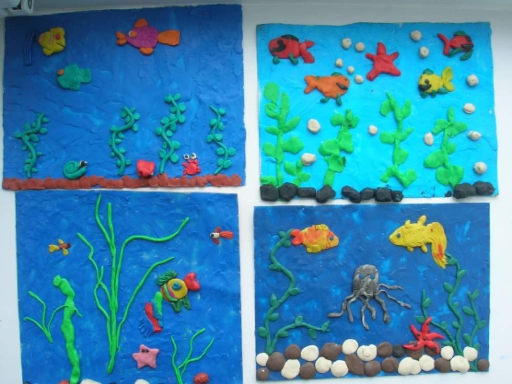 Как сделать подводный мир из пластилина 4
