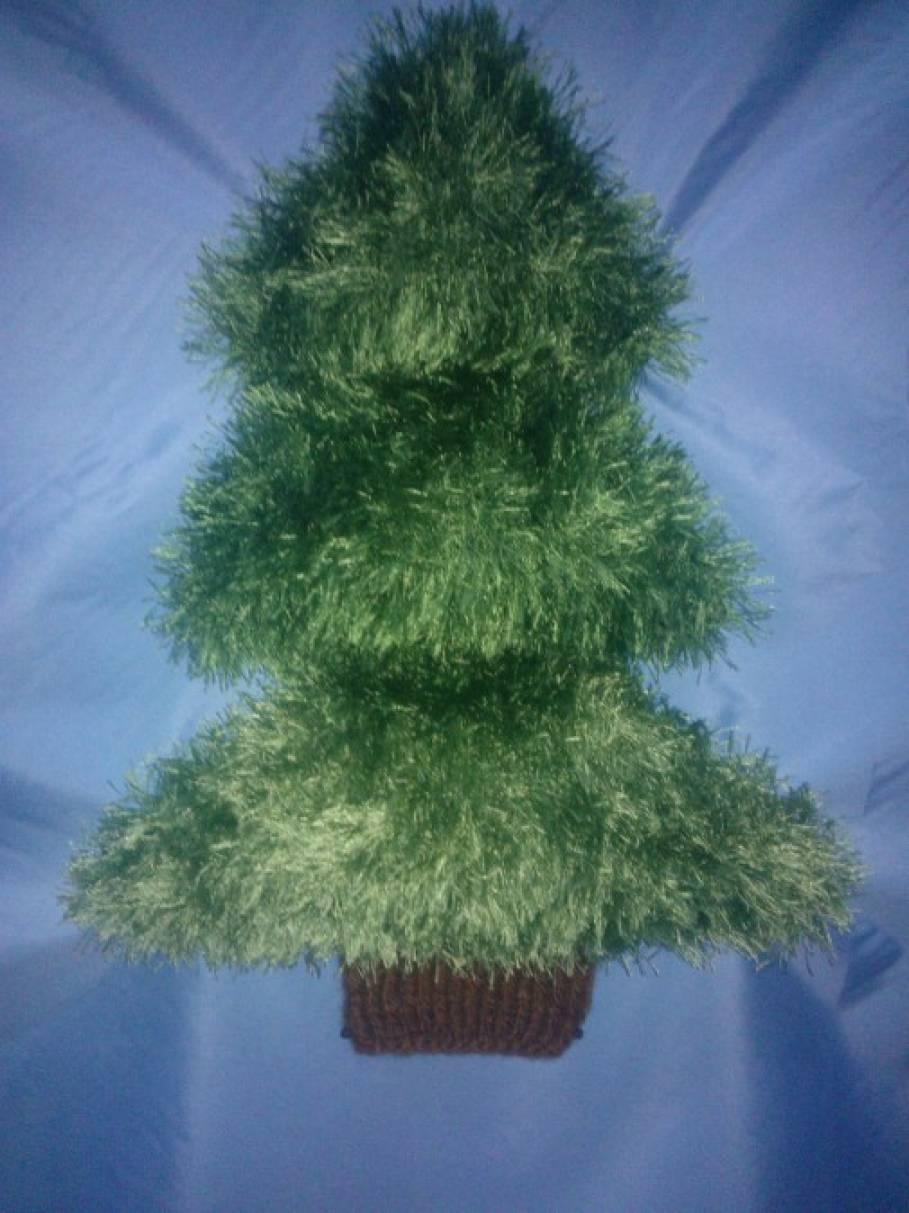 Мастер-класс по вязанию спицами из пряжи «травка» «Маленькая елочка»