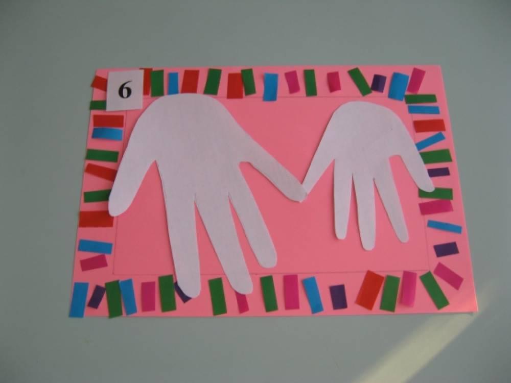 Поздравительной открытки, открытка из ладошек мастер класс