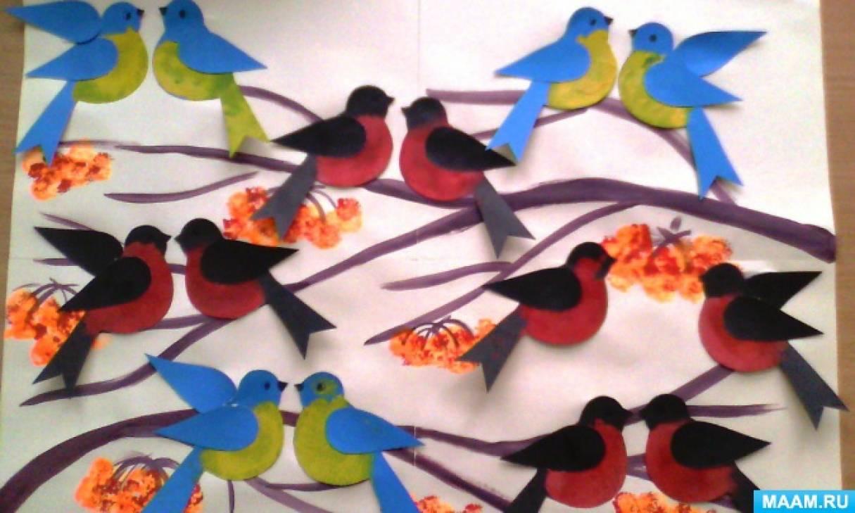 Аппликации птиц по фото и видео мастер-классам