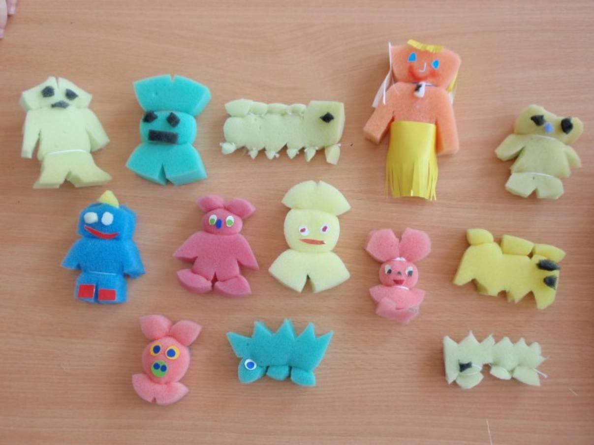 Конспект НОД по ручному труду (подготовительная группа) Забавные игрушки. Работа с искусственным материалом — поролон.
