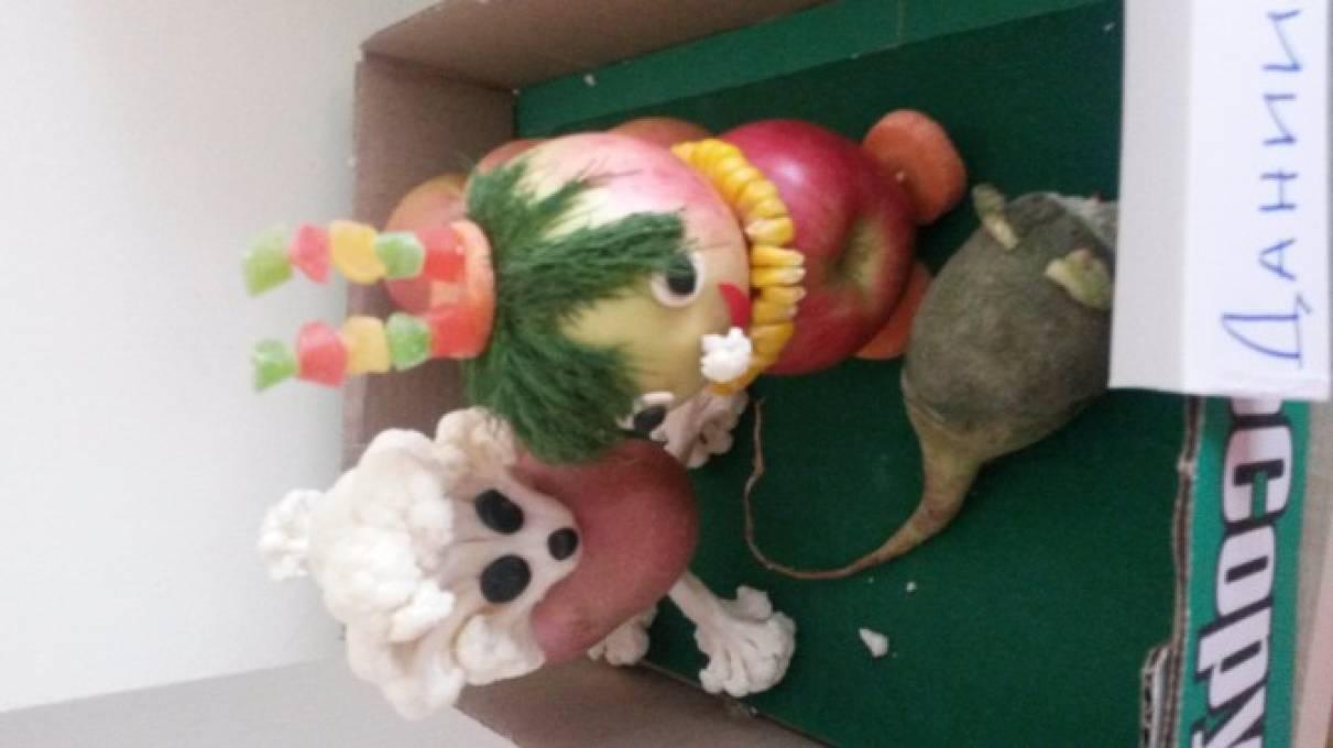 Поделки из овощей и фруктов «Овощи и