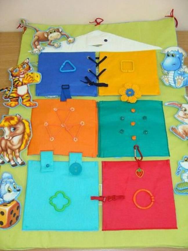 Развивающий коврик домик для детей своими руками