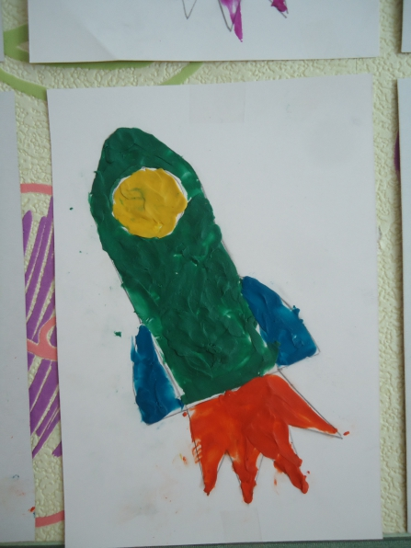 Рисование ракеты в средней группе картинки