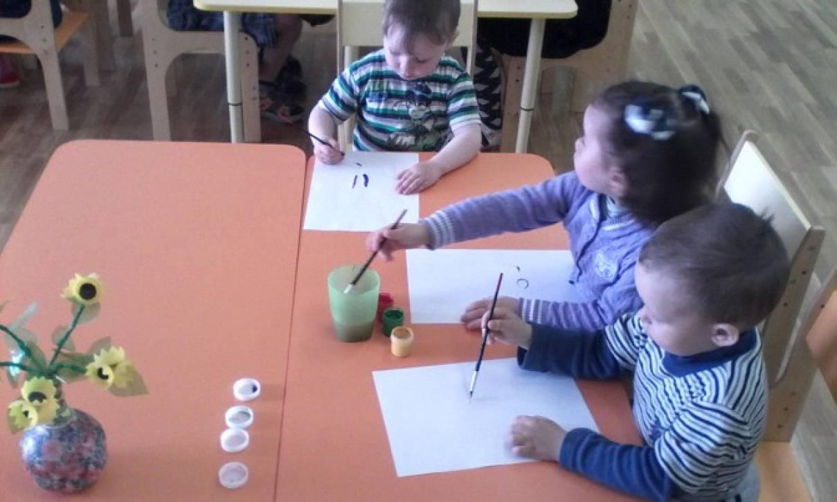 Конспект занятия по художественно-творческому развитию «Ваза с цветами» (разновозрастная группа)