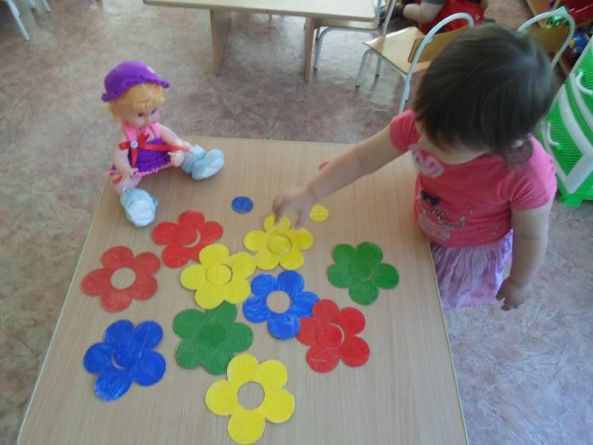 Дидактическая игра собери цветок