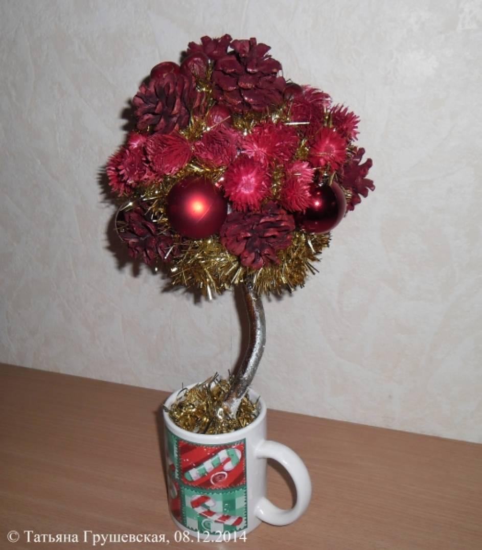 Топиарий-новогоднее дерево счастья