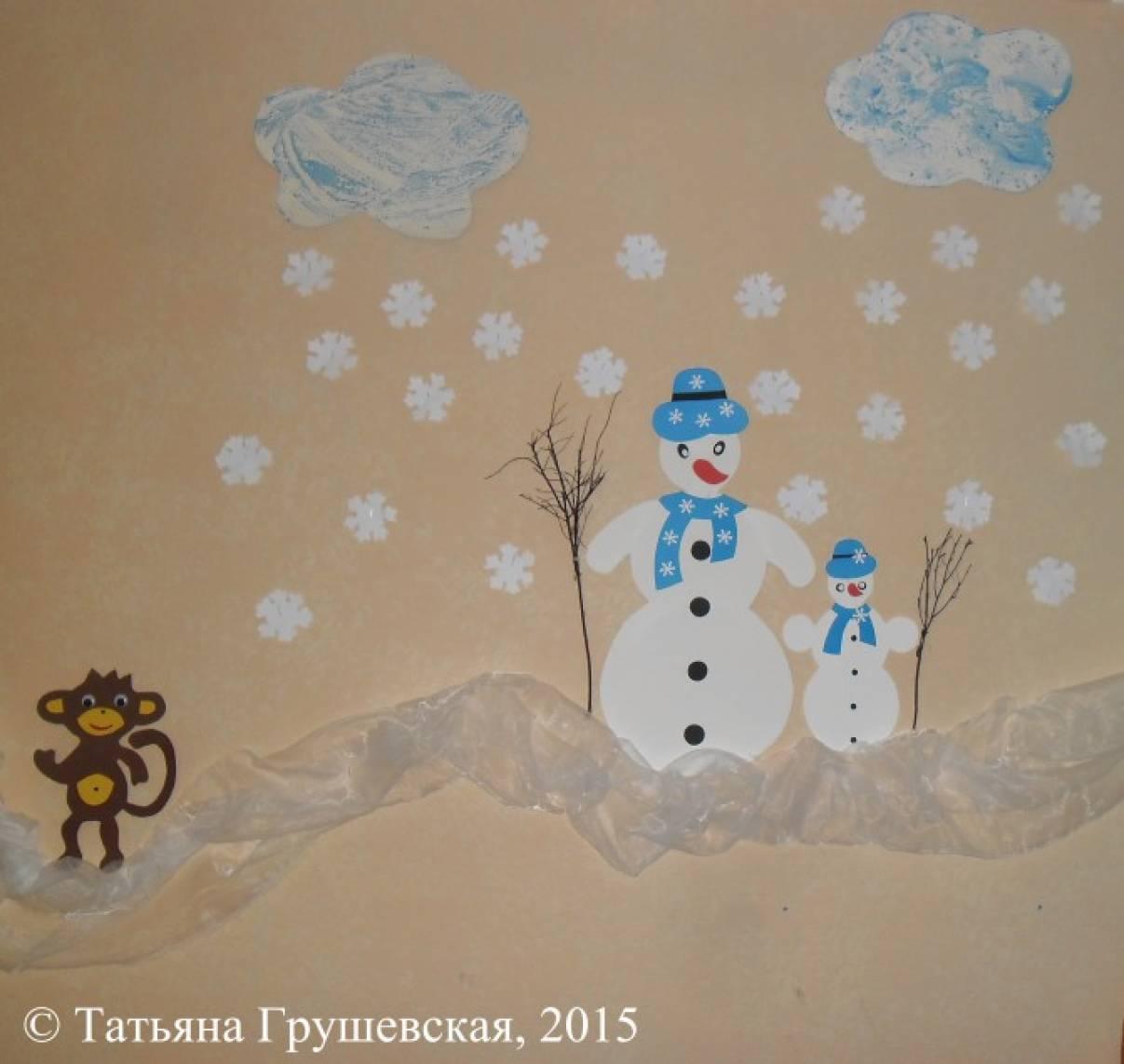 Зимние картинки для украшения стены в доу