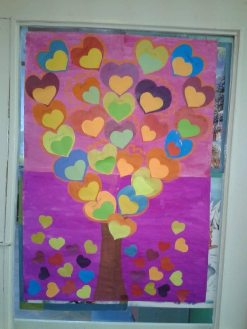 Мастер-класс по изготовлению плаката к празднику День Святого Валентина «Дерево Любви»