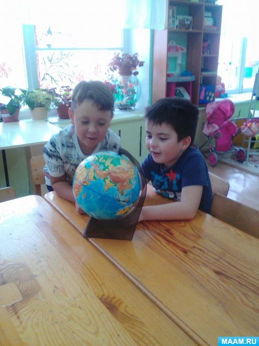 Конспект НОД для старшей группы по познавательному развитию «Земной шар — наш дом родной»