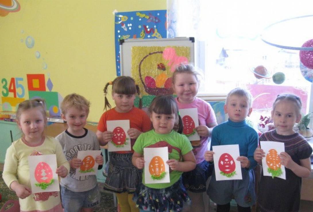 Открытки к празднику Светлой Пасхи для детей средней группы (фотоотчёт)