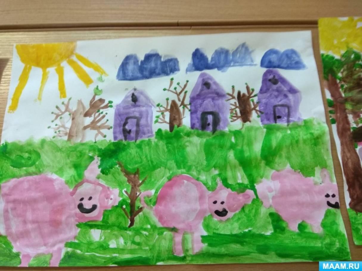 Фотоотчёт по сказке «Три поросёнка» (работы детей 5–7 лет)