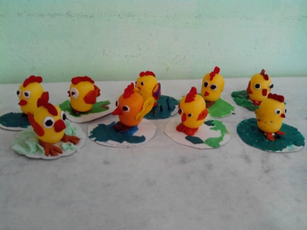 Поделки из киндер яиц и пластилина своими руками для детского сада 22