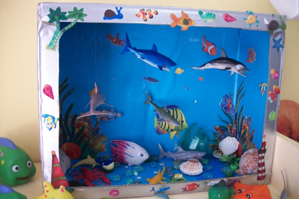 Как сделать декоративный аквариум своими руками без воды