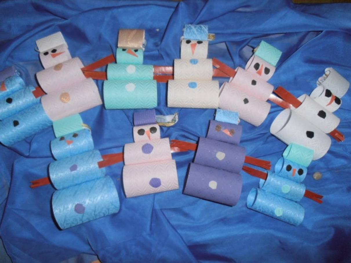 Мастер-класс по изготовлению снеговичков из остатков жалюзи